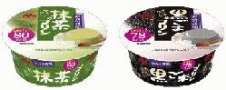 森永乳業 和みの時間 抹茶プリン/黒ごまプリン